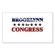 BROOKLYNN for congress Rectangle Decal