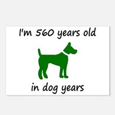 80 Dog Years Green Dog 1C Postcards (Package of 8)