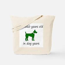 80 Dog Years Green Dog 1C Tote Bag