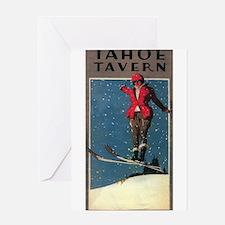Lake Tahoe, CA - Tahoe Tavern - Vintage Poster Gre