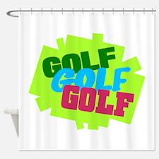 Golf Golf Golf Shower Curtain