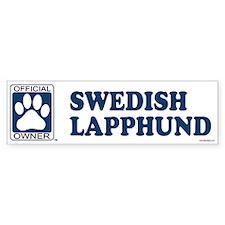 SWEDISH LAPPHUND Bumper Bumper Sticker