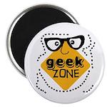 Geek Zone Warning Magnet