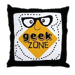 Geek Zone Warning Throw Pillow