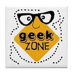 Geek Zone Warning Tile Coaster
