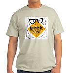 Geek Zone Warning Ash Grey T-Shirt