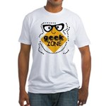 Geek Zone Warning Fitted T-Shirt