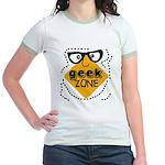 Geek Zone Warning Jr. Ringer T-Shirt