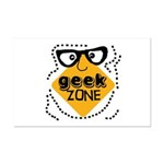 Geek Zone Warning Mini Poster Print