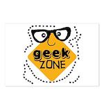 Geek Zone Warning Postcards (Package of 8)