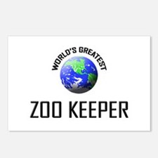 World's Greatest ZOO KEEPER Postcards (Package of