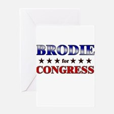 BRODIE for congress Greeting Card