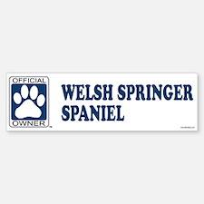 WELSH SPRINGER SPANIEL Bumper Bumper Bumper Sticker