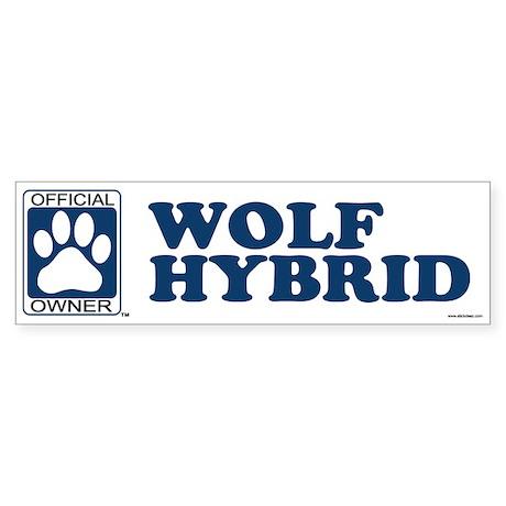 WOLF HYBRID Bumper Sticker