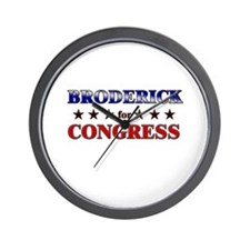 BRODERICK for congress Wall Clock