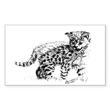 Serval Cub Rectangle Decal