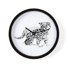 Serval Cub Wall Clock