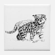 Serval Cub Tile Coaster