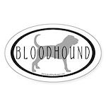 Bloodhound Dog Breed(inner border) Oval Sticker