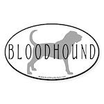 Bloodhound Dog Breed(black border) Oval Sticker
