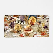 Seashells And Starfish Aluminum License Plate