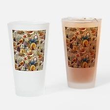 Seashells And Starfish Drinking Glass