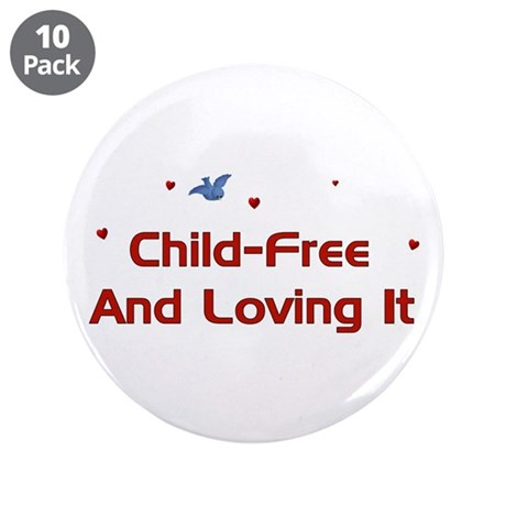 "Child Free 3.5"" Button (10 pack)"