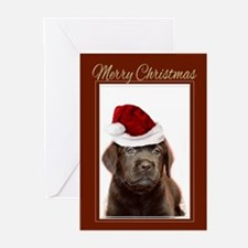 Christmas Labrador Puppy Greeting Cards