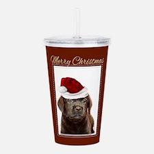 Christmas Labrador Pup Acrylic Double-wall Tumbler