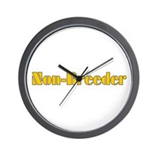 Non-Breeder Wall Clock