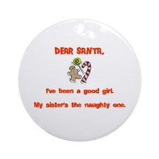 Cute Brothers Ornament (Round)