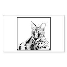 Serval reclined Rectangle Decal