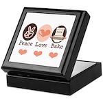 Peace Love Bake Bakers Baking Keepsake Box