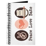 Peace Love Bake Bakers Baking Journal
