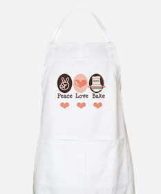 Peace Love Bake Bakers Baking BBQ Apron