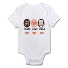 Peace Love Bake Bakers Baking Infant Bodysuit