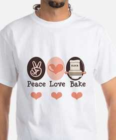 Peace Love Bake Bakers Baking Shirt