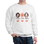Peace Love Bake Bakers Baking Sweatshirt