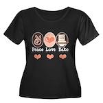 Peace Love Bake Bakers Baking Women's Plus Size Sc