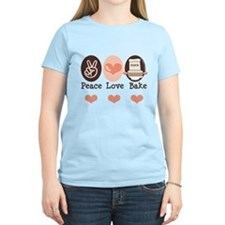 Peace Love Bake Bakers Baking T-Shirt