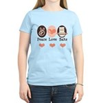 Peace Love Bake Bakers Baking Women's Light T-Shir