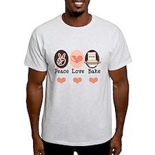 Peace Love Bake Bakers Baking T-Shirt