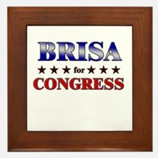 BRISA for congress Framed Tile
