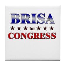BRISA for congress Tile Coaster