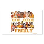Jewish We Are Family Rectangle Sticker