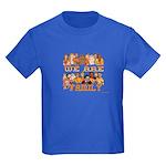 Jewish We Are Family Kids Dark T-Shirt
