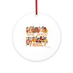 Jewish We Are Family Ornament (Round)