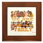 Jewish We Are Family Framed Tile