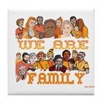 Jewish We Are Family Tile Coaster