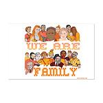 Jewish We Are Family Mini Poster Print